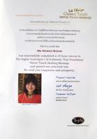 Jack Chaiya Massage certificate